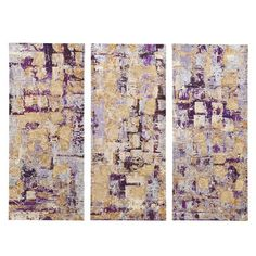 """Madison Park """"Glided Violet Gel Coat"""" by Blakely Bering 3 Piece Painting Print Set on Wrapped Canvas & Reviews 