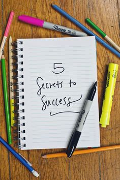 "Emma's 5 secrets to success / ""Failure is often just a step toward success."""