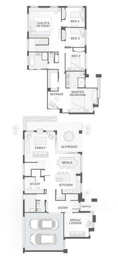 Double storey home design.