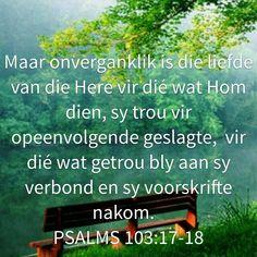 God is liefde Goeie More, Thy Word, Afrikaans, Kos, Psalms, Bible Verses, Spirituality, Faith, Creative