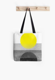 Yellow Abstract Tote Bag  #redbubble #decor #buyart by #nileshkikuuchise  #yellow #abstract