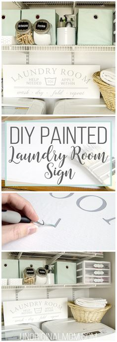 DIY Painted Laundry