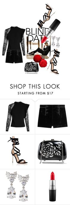 """""""Blind Date!"""" by lheijl ❤ liked on Polyvore featuring self-portrait, Emilio Pucci, Gianvito Rossi, Chanel, Fantasia by DeSerio and MAC Cosmetics"""