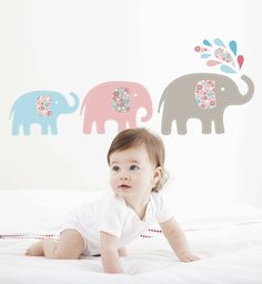 elephant wall stickers by the little blue owl | notonthehighstreet.com