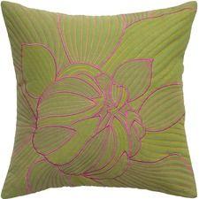 Flower Cotton Throw Pillow