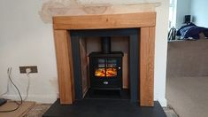 Sent in by another of our happy customers. The Chester Rustic Oak. Oak Beam Fireplace, Fire Surround, Chester, Solid Oak, Beams, Home Appliances, Rustic, Wood, Happy