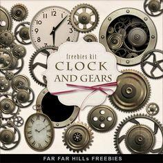 Far Far Hill: New Freebies Kit of Clock Gears
