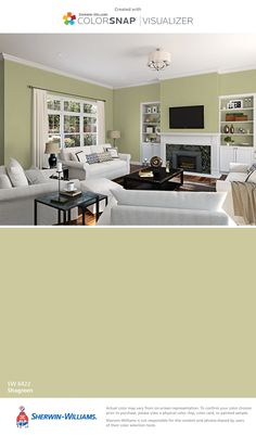 I found this color with ColorSnap® Visualizer for iPhone by Sherwin-Williams: Shagreen (SW 6422).