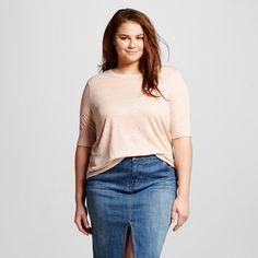 Women's Plus Size Linen T-Shirt - Who What Wear™ : Target