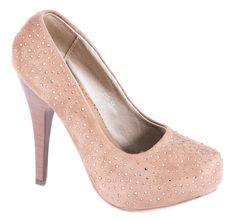 Pantofi cu platforma - Pantofi maro cu platforma A81M - Reducere 42%- Zibra