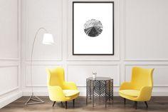 home decor - geometric prints, photo art, circle ball 3d picture, black white printable art, train photo art ball art