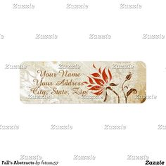 Fall's Abstracts Label