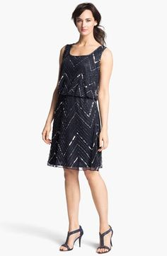 MOB- i really like this one! $100 Pisarro Nights Embellished Mesh Dress available at #Nordstrom