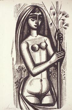 "The newspaper Valtinos: ""Song of Songs"" Wood Engraving, Gravure, Printmaking, Artist Art, Art Forms, Female Art, Home Art, Sculpture Art, Contemporary Art"
