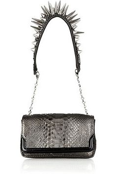 Python bag with spikes by Christian Louboutin