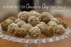 Almond Butter Chocolate Chip Oat Balls