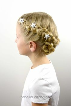 Dutch Braided Baptism Hairstyle