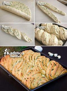 Sarımsaklı Ekmek Tarifi, Nasıl Yapılır - Sulu yemek - Las recetas más prácticas y fáciles Bread Recipes, Cooking Recipes, Bread Art, Bread Shaping, Braided Bread, Most Delicious Recipe, Bread And Pastries, Artisan Bread, Arabic Food