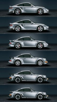 The evolution of the Porsche 911.