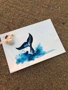 Cosmic Whale Tail by RebelSoulyf on Etsy Watercolor Mermaid, Abstract Watercolor Art, Watercolor Drawing, Watercolor Animals, Watercolor Paintings, Whale Sketch, Mermaid Sketch, Whale Painting, Grace Art