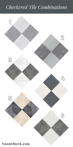 Checkered Tile Floors - Get that Black and White Marble Checkered Look Black And White Marble, White Tiles, Grey And White, Gray, Travertine Tile, Stone Tiles, Tiling, Checkerboard Floor, Polished Porcelain Tiles