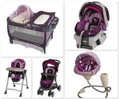 Graco Minnie Mouse print - LOVE this, want it all, already have playard and carseat! <3