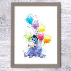 Eeyore Winnie the Pooh Nursery wall art Eeyore by ColorfulPoster