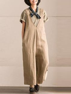 74c8fd85fef Casual Pure Color Sleeveless Jumpsuits For Women Plus Size Jumpsuit