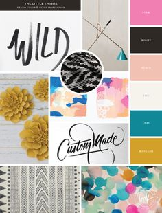 Modern Bohemian moodboard for The Little Things || Salted Ink Design Co.