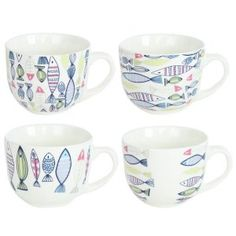600ml soup mug with decal