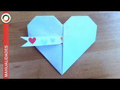 Cómo hacer un corazón de papel (Tarjeta de San Valentín Origami) - YouTube