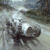 Bernd Rosemeyer, European Champion driving the winning Auto Union in the 1936 Eiffelrennen at Nurberg Ring - - ℛℰ℘i ℕnℰD by Averson Automotive Group LLC Automotive Group, Automotive Art, Sport Cars, Race Cars, Anime Comics, Car Posters, Vintage Race Car, Car Drawings, Bike Art