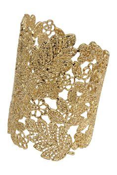 Handmade Gold Cutout Cuff