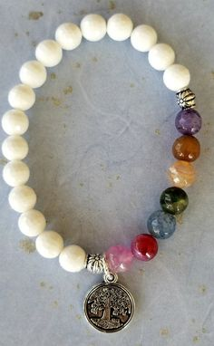 Stretch natural stone healing 7 chakra women s bracelet 8mm beaded   Unbranded  Beaded Beach Anklets 4ab3ae1d0972c
