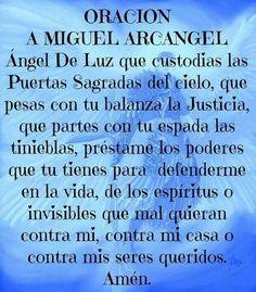 Oracion a San Miguel Arcangel...