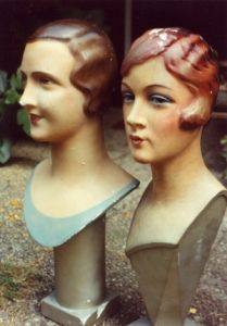 Jazz Age display bust mannequins