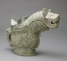 Ritual Wine-Pouring Vessel with Tiger and Owl Decor Period: Shang Dynasty Date: Location: China Material: Bronze Subject: ritual pouring vessel Technique: zoomorphic form (highly stylized hybrid animals), geometric, curvilinear Korean Art, Asian Art, Chinese Culture, Chinese Art, Statues, Vases, Harvard Art Museum, Fu Dog, Native Design