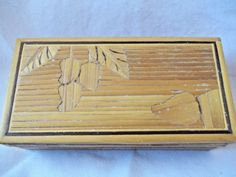 "Wood Box Hand Made 5"" x 2 1/2"" x 1 1/2"" Jewelry or Gift Box Bamboo #Unbranded"