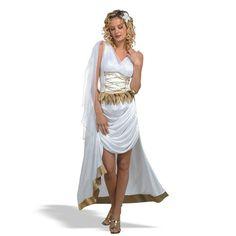 Womens Sexy Goddess Dress Costume Large 12 14 Toga Greek Roman Adult Halloween | eBay