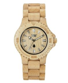 A cool oversized watch from WeWOOD. WeWOOD fashions wooden timepieces from  scrap-wood and uses state-of-the-art Miyota movements for the guts,  resulting in fb45b483445