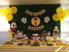 What a great Mickey Mouse birthday party! See more party planning ideas at CatchMyParty.com!