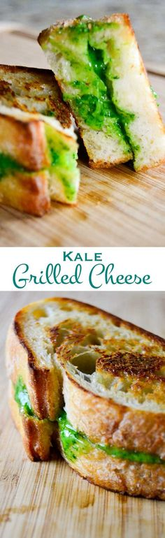 This kale grilled cheese sandwich is made for grownups. It adds a nutritious kick to your childhood favorite and is perfect for your St. Patrick's Day celebration!