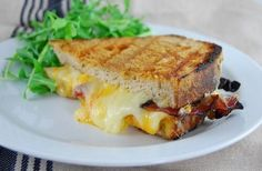 Bacon grilled cheese pressed
