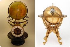 Глобус с часами