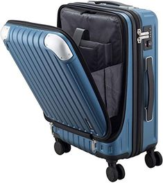 New Luggage Hardside Suitcase PC+ABS Spinner Built-in TSA Lock, Carry 20 (Blue) online - Alllovelyclothing