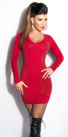 Koucla Karo-Kleid Strickkleid Kleid Dress