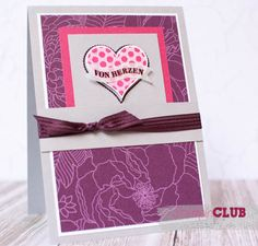 Stampin Up Herzklopfen Groovy Love Stanze Herzblatt Sweetheart Punch DSP Parkallee Park Lane