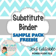 This Sub Binder is a three page sample of the Editable Sub Binder in Blue ChevronPacket includes:Binder CoverWelcome Letter (Editable)Sub ReportThe welcome letter is text editable, or you can simply print and fill out by hand. If you would like a more comprehensive substitute binder, please check out full product Editable Sub Binder in Blue ChevronCheck out my bestselling sub binder in gray chevron:EDITABLE  SUB BINDER IN GRAY CHEVRONWant to know about other great freebies, new products and…