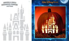 Cinderella's Castle Pumpkin Carving Idea