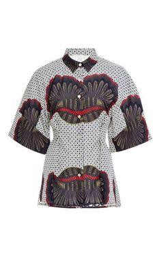 Broome Printed Cotton Shirt by Stella Jean Now Available on Moda Operandi. #Africanfashion #AfricanClothing #Africanprints #Ethnicprints #Africangirls #africanTradition #BeautifulAfricanGirls #AfricanStyle #AfricanBeads #Gele #Kente #Ankara #Nigerianfashion #Ghanaianfashion #Kenyanfashion #Burundifashion #senegalesefashion #Swahilifashion DK
